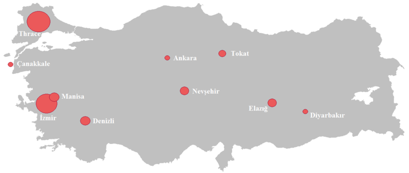 Turkish Wine Producing Areas