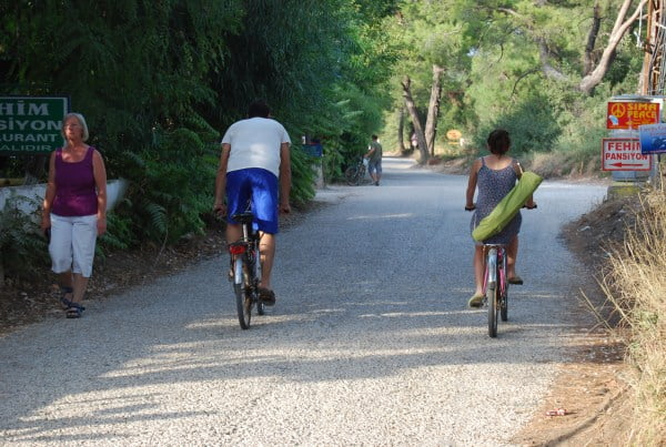 Bike riding in Cirali