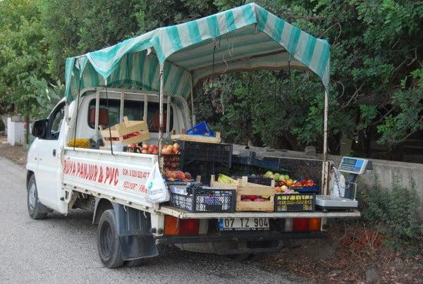 Mobile shop in Cirali