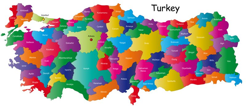 Map Of Turkey And Provinces Turkish Travel Blog - Turkey map