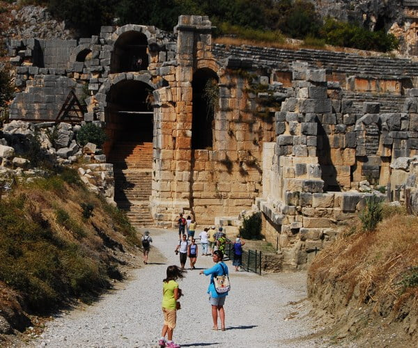 Ruins of Ancient Myra and Lycian Rock Tombs at Demre