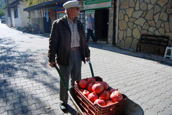 Fruit seller of Uzumlu