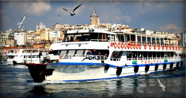 Ferry Boats of Galata bridge