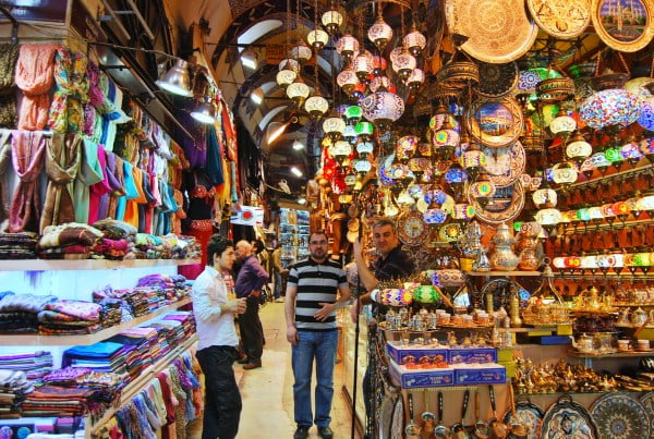 Shops in the Grand Bazaar. From Expert Shares Tips on Traveling to Turkey