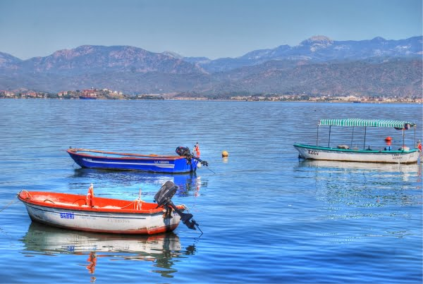 Boats in Fethiye harbour
