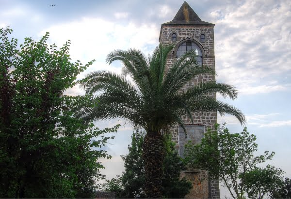 Clock tower of the Hagia Sophia in Trabzon