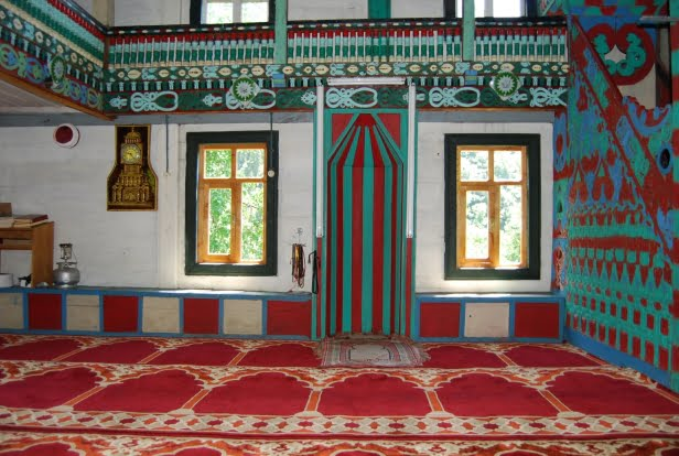 Wooden mosque in the black sea