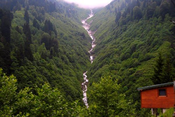 Gelin tulu waterfall