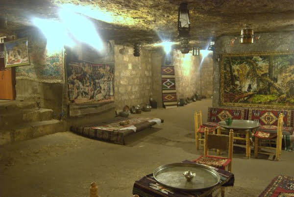 Cave cafe in Gaziantep