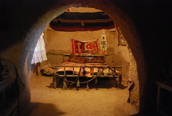 Bedroom of a beehive house