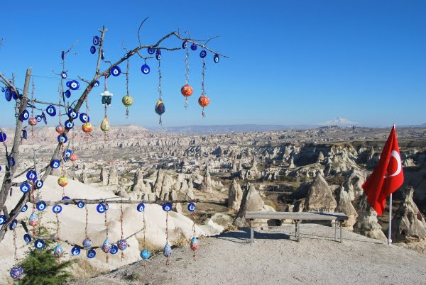 Panoramic viewpoint Esentepe Goreme Cappadocia