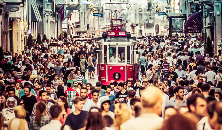 Istiklal street Istanbul Turkey