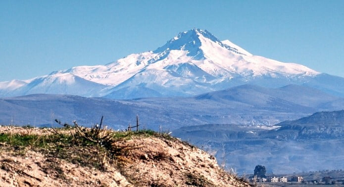 Mount Erciyes view from Cappadocia