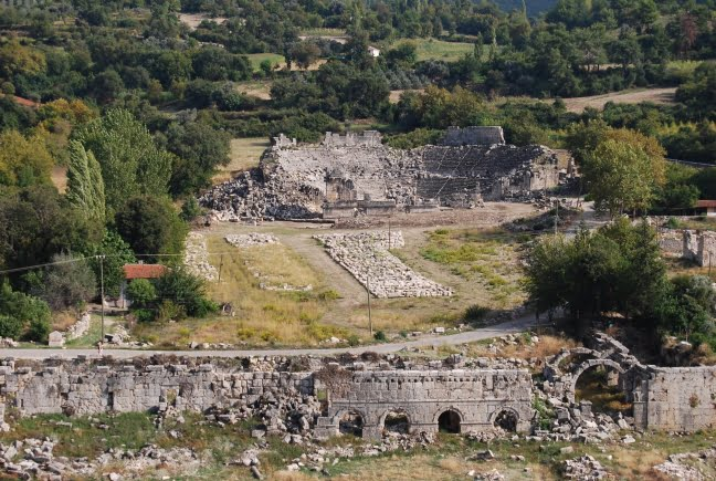 Tlos Ruins in Turkey : Lycian Tombs & the Winged Horse, Pegasus