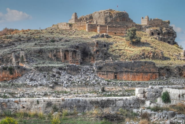 Tlos Ruins in Turkey : Lycian Tombs and Home of the Winged Horse, Pegasus