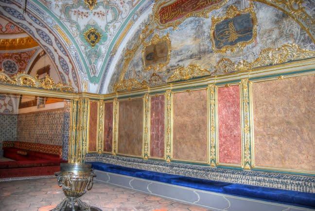 Inside Topkapi palace harem of Istanbul, Turkey