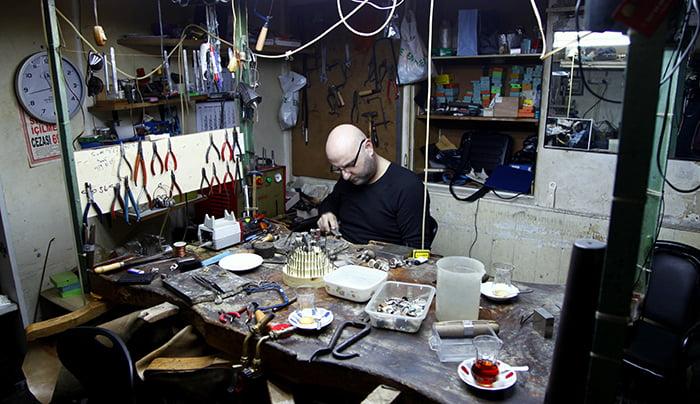 Grand bazaar jewellery workshop