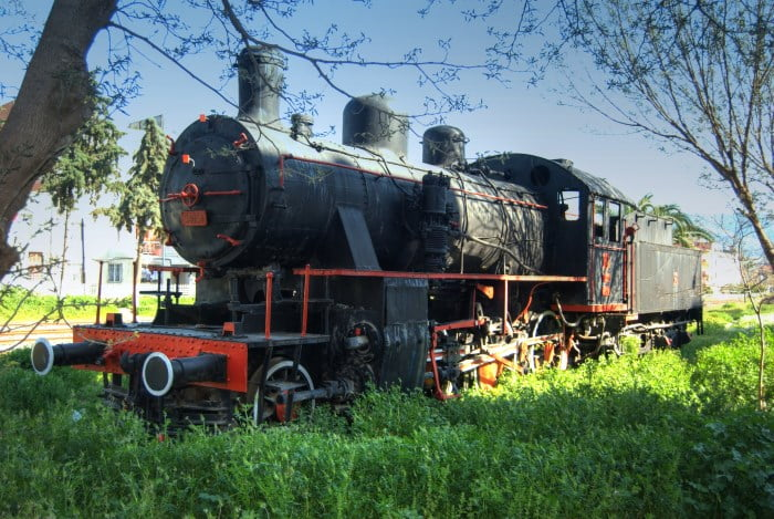 Old train in Selcuk Turkey