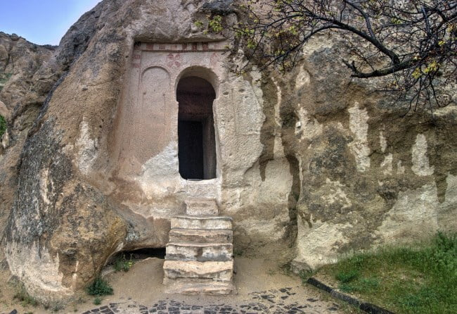 Ancient Church of Goreme Open Air museum in Cappadocia Turkey