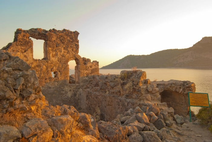 Ruins on Gemiler Island Fethiye