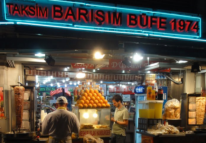 Fast food in Taksim