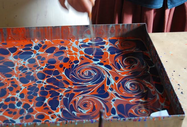 Ebru Painting On Canvas
