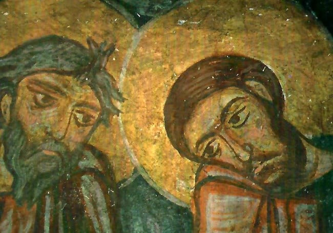 Fresco of Keslik Monastery in Cappadocia Turkey