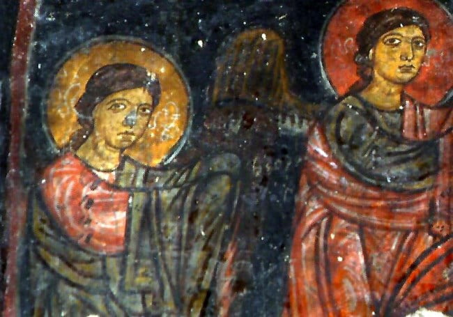 Fresco of Keslik Monastery in Turkey