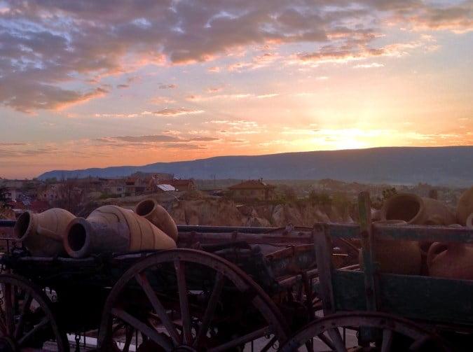 Sunrise in Ortahisar Cappadocia