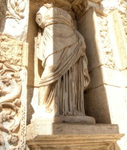 Celsus library statue