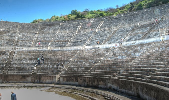 Ephesus theatre ruins Turkey