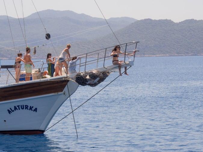 blue cruise of mediterranean Turkey