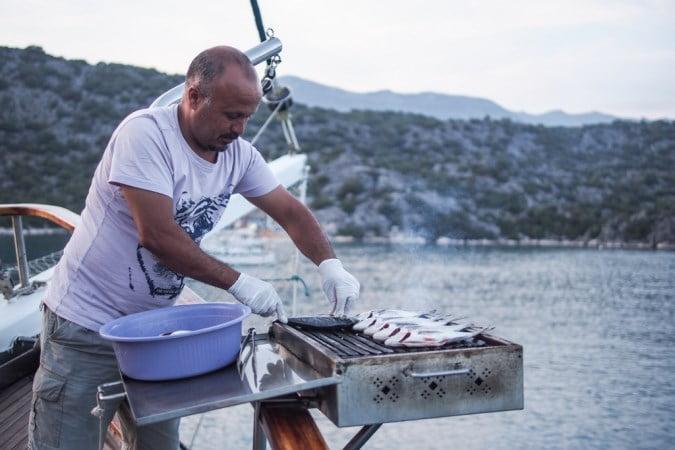 Food on Blue Cruise of Turkey