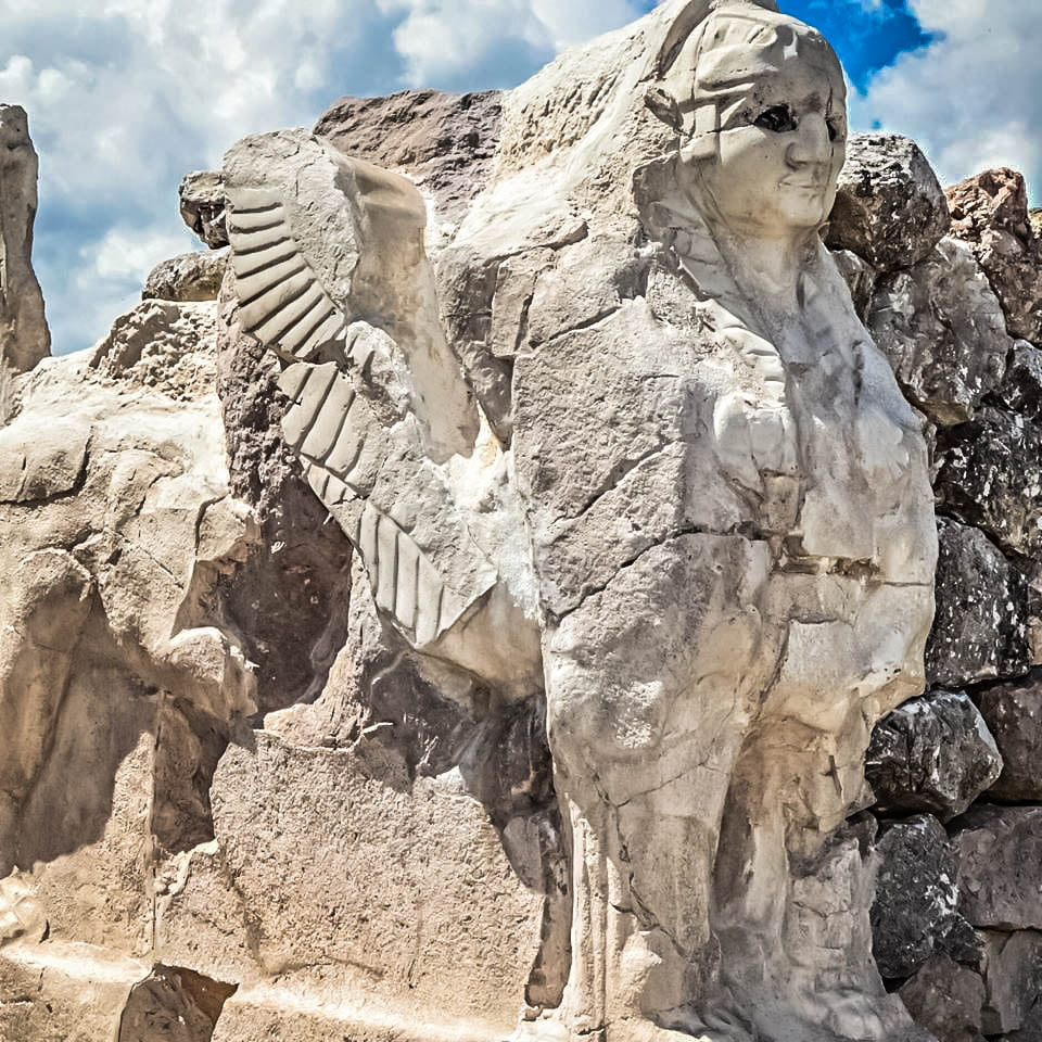 Sphinx Gate at Hattusa Turkey