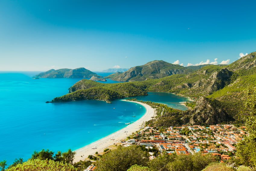 Beach destinations in Turkey Olu Deniz