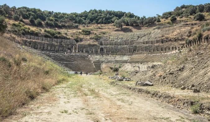 Stadium at Magnesia Ancient Ruins in Turkey