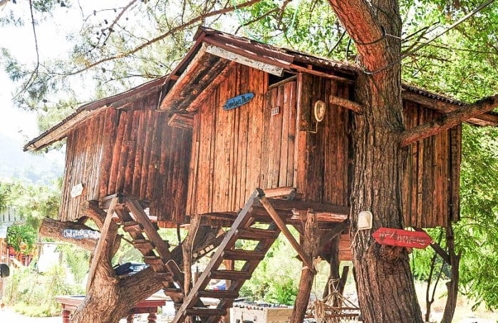 Unusual Tree house hotels in Olympos
