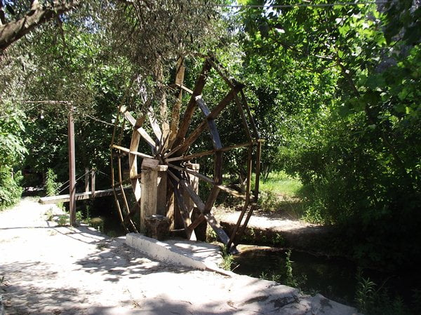 Water wheel at Uyku Vadisi