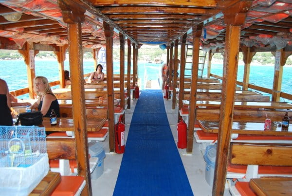 Inside of Boat