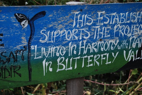 Living in harmony - The Butterfly valley motto