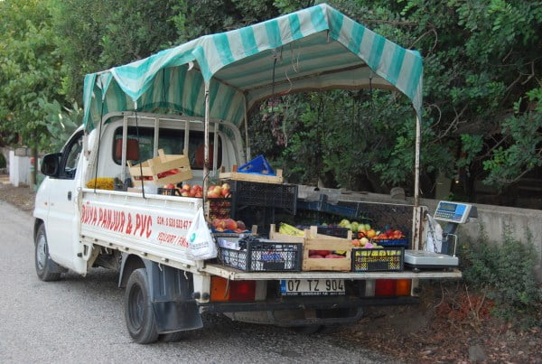 Mobile shop in Cirali
