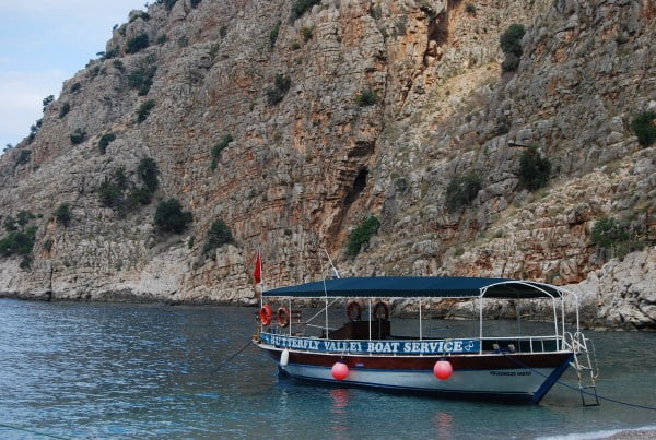 Taxi boat to Butterfly valley