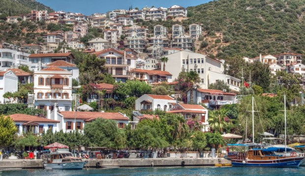 kas mediterranean coast  turkey