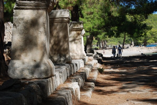 Main street at Phaselis