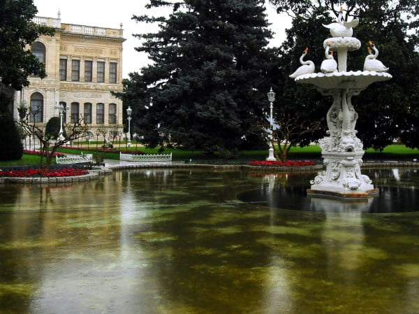 Gardens of Dolmabahce palace
