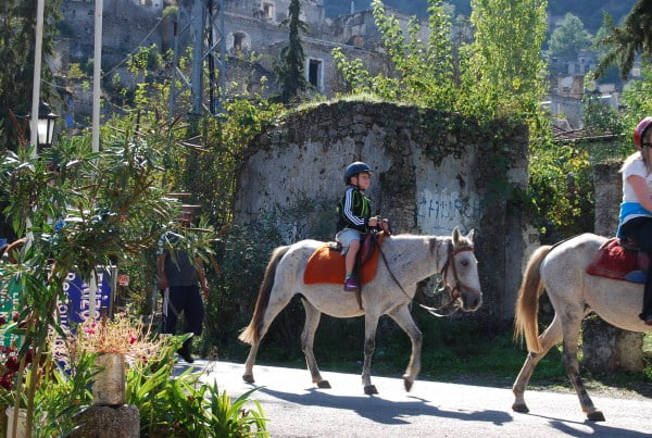 horse riding in Kayakoy