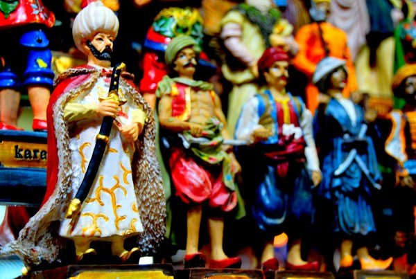Souvenirs in the Grand Bazaar of Istanbul