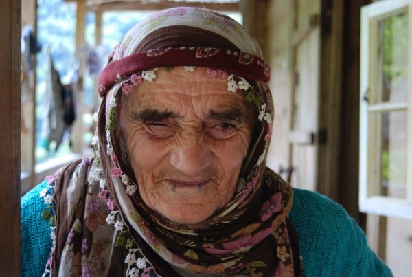Turkish 100 year old woman