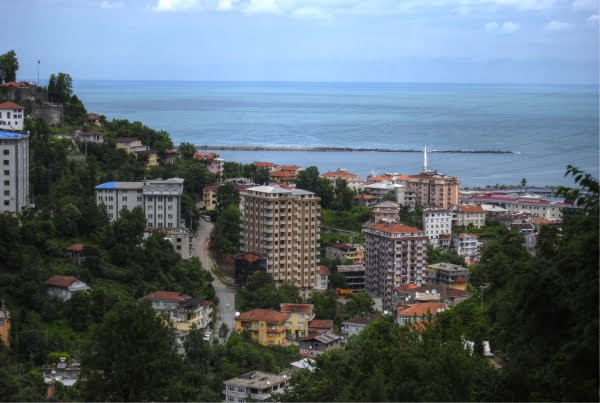 City of Rize in Turkey