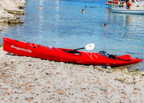 Sea kayaking in Kekova, Turkey